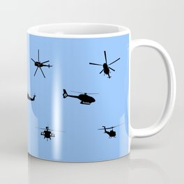 Helicopter Pattern Coffee Mug