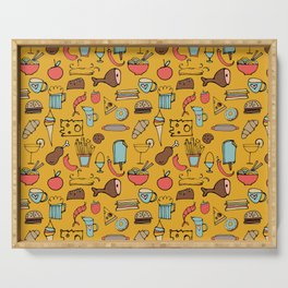 Food Frenzy yellow Serving Tray