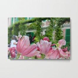 Monet's Tulips Metal Print