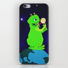 Munching on the Moon iPhone Skin