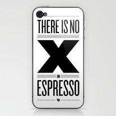 No X in Espresso – Black iPhone & iPod Skin