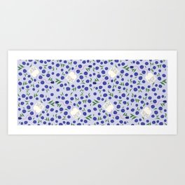 Blueberry Tea Art Print