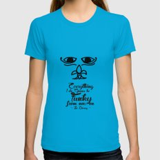 Everything I Do Gonna Be Funky (For Now On) SMALL Womens Fitted Tee Teal