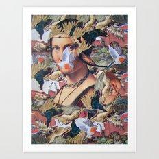 LA BELLE FERRONIERE EN CRAQUELURES Art Print