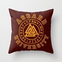 Asgard University Throw Pillow