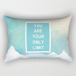 Your Only Limit Quote Rectangular Pillow