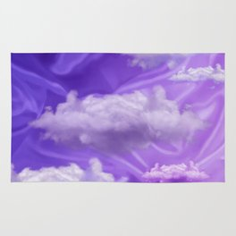 """Violet pastel spring sky with clouds"" Rug"