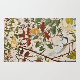 Marsh Tit and Field Mice Rug