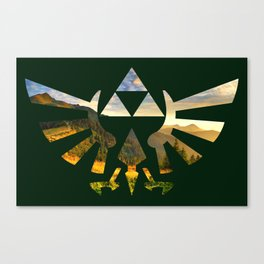 The Legend of Zelda Triforce Mountain Path Canvas Print