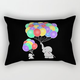 Elephant And Bunny are Best Friends! Rectangular Pillow