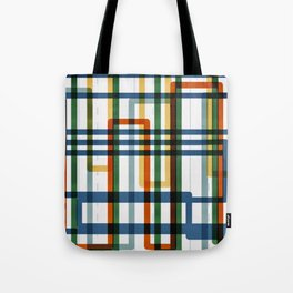 Abstract Lines - 5 Line Metro Map Tote Bag