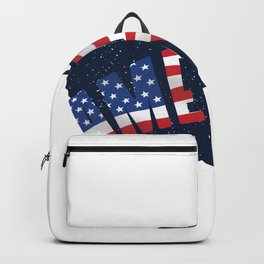 North America Continent Backpack