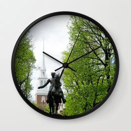 Revere and the Old North Church Wall Clock