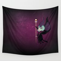 maleficent Wall Tapestries featuring Maleficent by Raimondo Tafuri