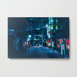 From My Umbrella -Snowy Night- Metal Print