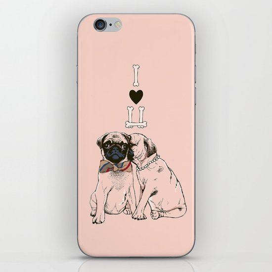 The Love of Pug iPhone Skin