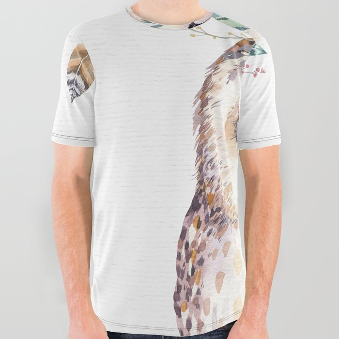 Forest Owl by Nature Magick All Over Graphic Tee