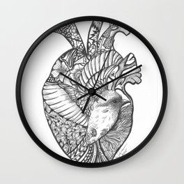 A BROKEN HEART THAT COME'S TO LIFE WITH A TOUCH OF A BIRD.... Wall Clock