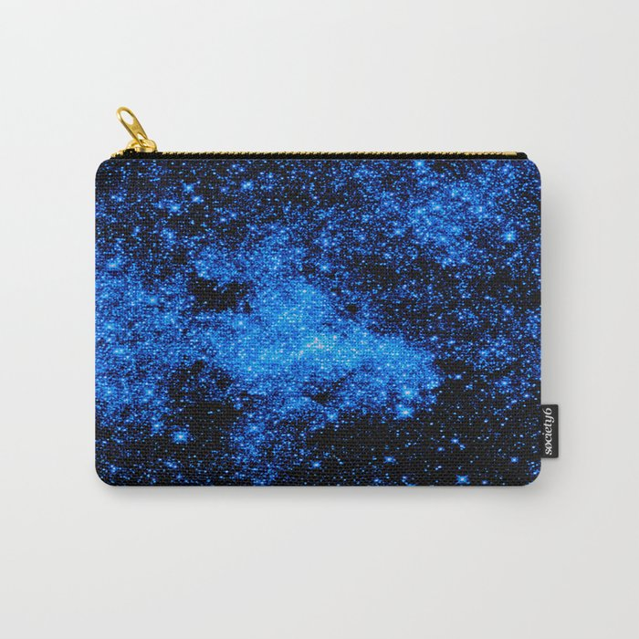 gALAXy Midnight Blue Stars Carry-All Pouch