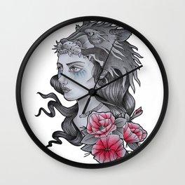 WARRIOR WOMAN Wall Clock