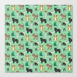 Jungle animals wilderness pattern tropics tropical Canvas Print