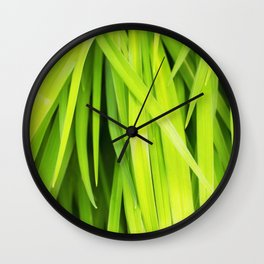 Summer Green Leaves Wall Clock
