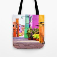 street Tote Bags featuring street by Asano Kitamura