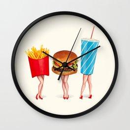 Combo Meal Pin-Ups Wall Clock