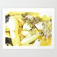 yaoi Art Prints featuring Close to you by Fireangels