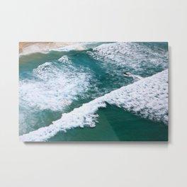 With Waves Metal Print