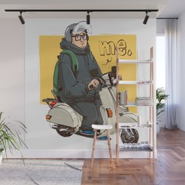 Me ride my scooter Wall Mural