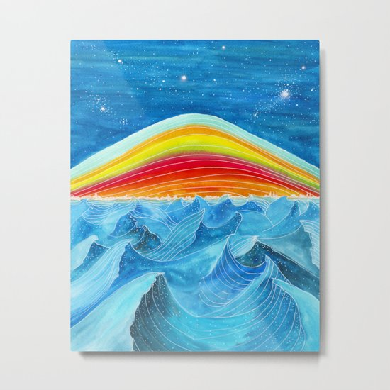 Rainbow Mountain Metal Print