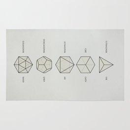 The Platonic Solids Rug