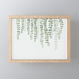 Pastel Green Botanical Watercolor Framed Mini Art Print