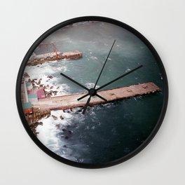 Cold Dark Sea Wall Clock