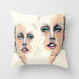 Portrait study. Rough sketch Throw Pillow