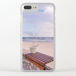 Winter On The Seaside Clear iPhone Case