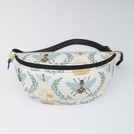 Queen Bee with Gold Crown and Laurel Frame Fanny Pack