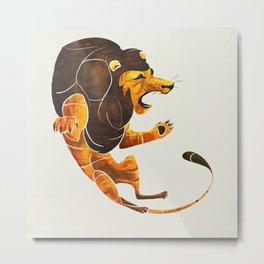 Lion 2 Metal Print