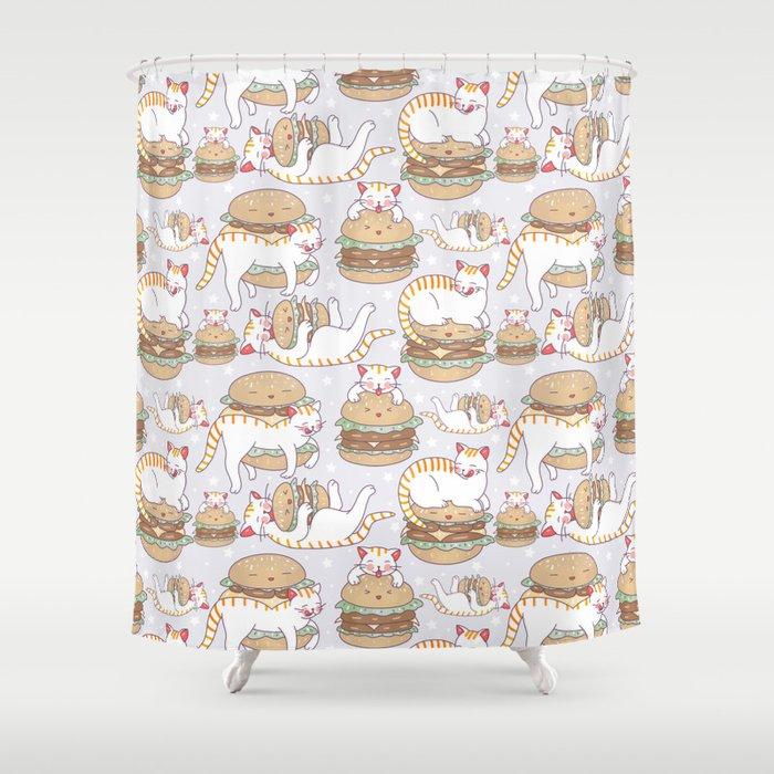 Cat burgers Shower Curtain