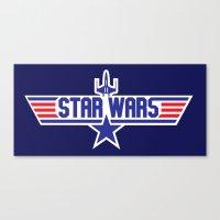 top gun Canvas Prints featuring Star Gun / Top Wars by Milo Firewater