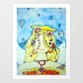 My Girl Angie Art Print