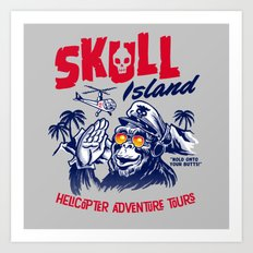 Skull Island Helicopter Adventure Tours Art Print