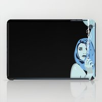 cigarettes iPad Cases featuring Genevieve & Cigarettes  by Andrew Formosa