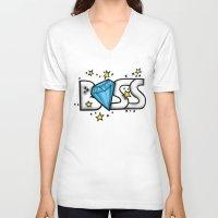 boss V-neck T-shirts featuring Boss by DeMoose_Art