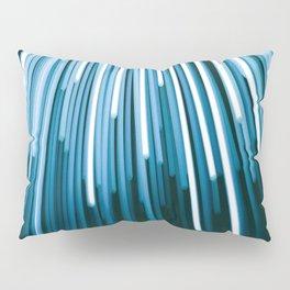 Hyperspace Fiber Optics Blue white Streaks Of Light Pillow Sham