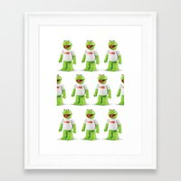 kermit Framed Art Prints featuring Kermit by MrWhite