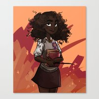 hermione Canvas Prints featuring Hermione by DellBelle