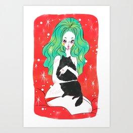 catty Art Print
