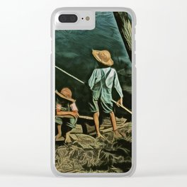 The Fishing Hole Clear iPhone Case